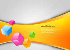 Stylish Colorful Cubes Background – PSD Download