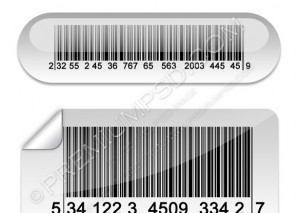 Vector illustration of Barcode Buttons – PSD Download