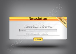 Web 2.0 Newsletter Banner Template – PSD Download