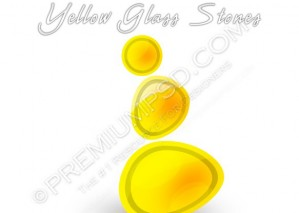 Yellow Glass Stones Design – PSD Download