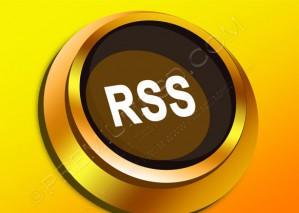 3D Golden Vector Rss Button – PSD Download