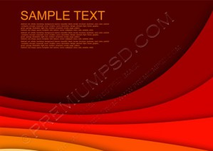 Abstract Red Background With Custom Text – PSD Download