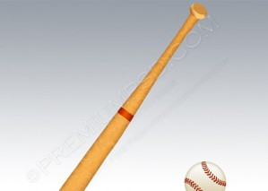 Baseball Bat And Ball – PSD Download