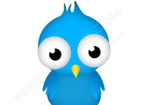 Blue Little Twitter Bird Vector – PSD Download