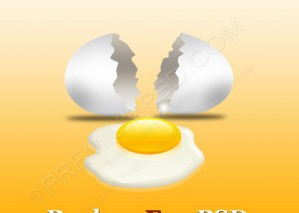 Broken Egg With Yolk – PSD Download
