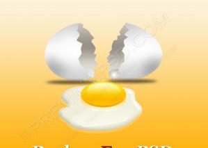 Broken Egg With Yolk – PSD Download