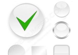 Check White Icon Vector – PSD Download
