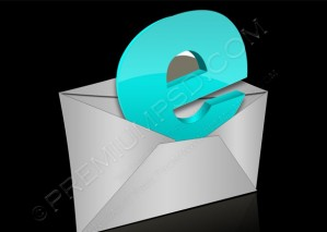 Envelope For E-mail With Letter – PSD Download