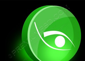 Eye 3d Icon Vector Illustration – PSD Download