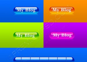 Glossy My Blog Button – PSD Download