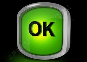 OK Sign 0n a Black Background – PSD Download