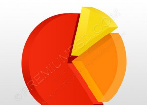 3D Pie Chart Icon – PSD Download