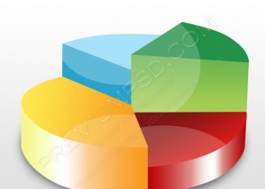 Pie Chart Icon – PSD Download