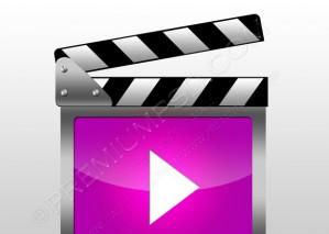 Pink Movie Clapperboard – PSD Download