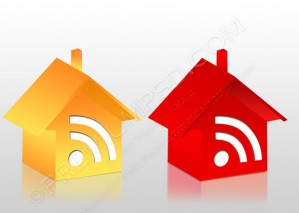 Rss House Icon – PSD Download