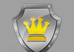 Shield With Crown On a Metal Background – PSD Download