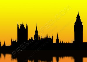 Silhouette Of The London – PSD Download