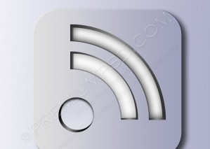 Silver RSS Symbol Icon – PSD Download