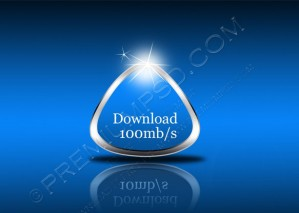 Vector 3D Download Indicator Rounded Triangle – PSD Download
