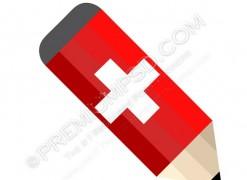 Switzerland Pencil Vector – PSD Download