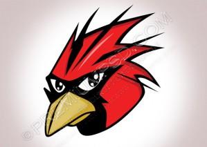 Vector Red Bird – PSD Download