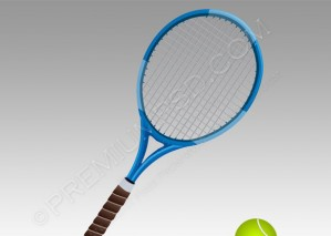 Vector Tennis And Ball – PSD Download