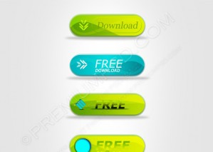 Vector Web Buttons – PSD Download