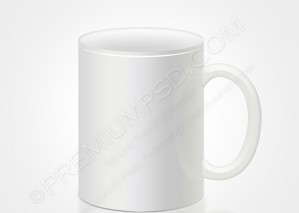 White Mug Vector – PSD Download