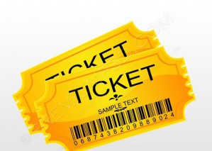 Yellow Pairs Ticket – PSD Download