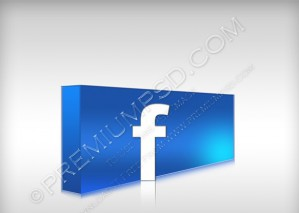 3D Facebook Logo – PSD Download