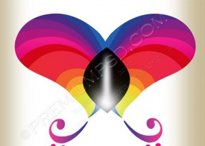 Abstract Butterfly Vector – PSD Download