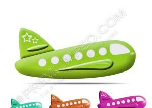 Aeroplane Icons – PSD Download
