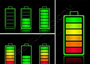 Battery Icons – PSD Download