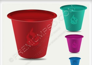 Colorful Plastic Bucket Icon – PSD Download