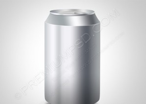Blank Steel Tin Can Vector – PSD Download