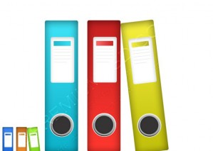 Coloful Office Files Icon- PSD Download