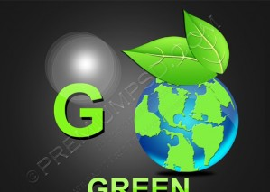 Green Earth Globe – PSD Download