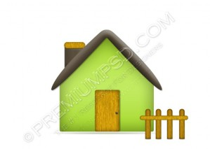 Green Home Icon – PSD Download