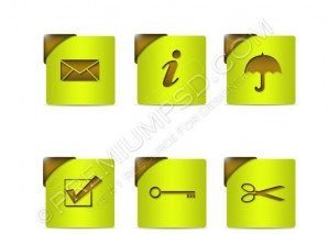 Green Web Icons – PSD Download