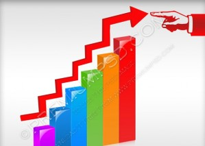 Growth Business Chart Vector – PSD Download