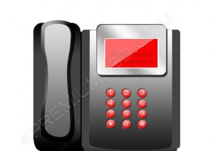 Modern Office Telephone Icon – PSD Download