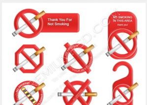 No Smoking Signs Vectors – PSD Download