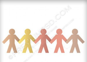 Paper People Chain Background – PSD Download