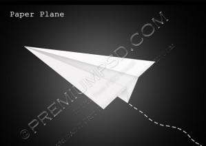 Paper Plane Vector – PSD Download