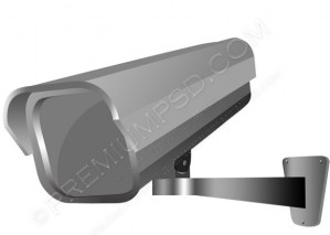 Security Camera Vector – PSD Download
