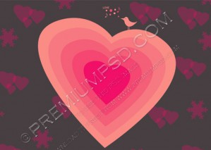 Sweet Pink Heart Vector – PSD Download