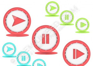 Vector Media Play Icon – PSD Download
