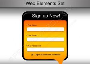 Web Sign up Form Design – PSD Download