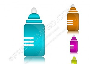 Baby Feeder Vector Icon – PSD Download
