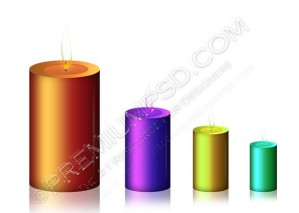 Candle Vector Icon – PSD Download